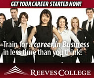 Get your career on track! A Reeves College education is relevant, focused and hands-on so you develop the professional knowledge and skills that will open a world of opportunity for you in the workforce.